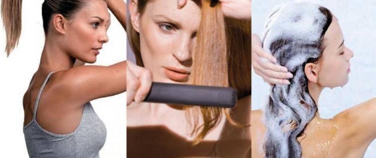 3 Atitudes que danificam os cabelos